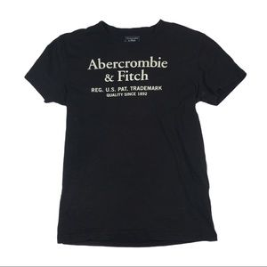 TS382 Abercrombie AF Spell Out Logo T Shirt S